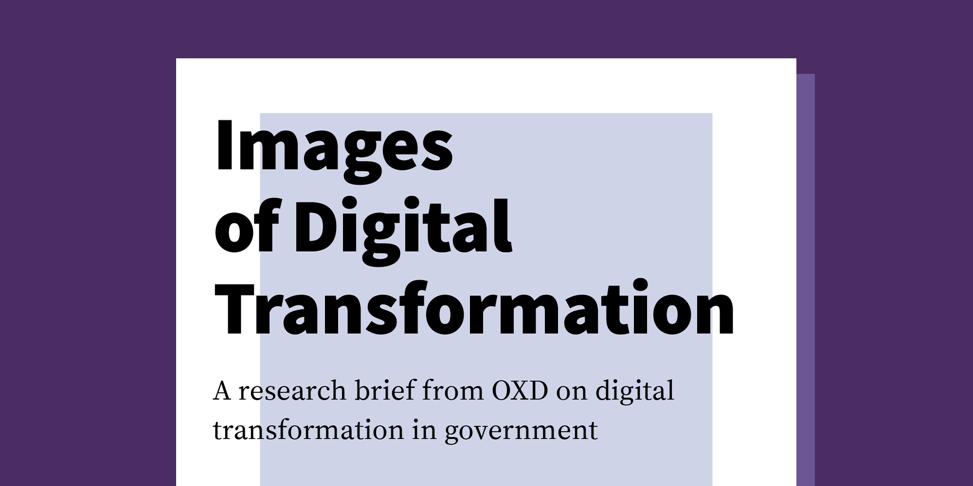 Images of Digital Transformation Research Brief
